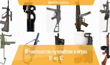 10 пистолетов-пулемётов в играх — [10 из 10]